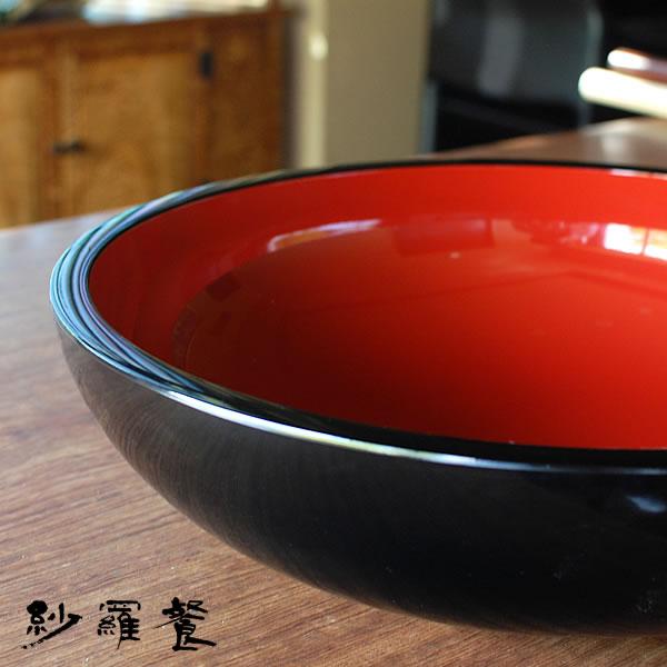 木地鉢(こね鉢) 赤黒 尺四寸 (約42cm)